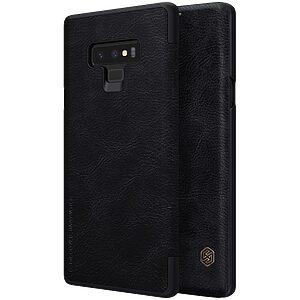 Θήκη SAMSUNG Galaxy Note 9 NiLLKiN Qin Series με υποδοχή για κάρτες Flip Wallet δερμάτινη μαύρο