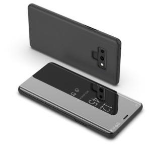 Θήκη SAMSUNG Galaxy Note 9 OEM Mirror Surface View Stand Case Cover Flip Window δερματίνη μαύρο