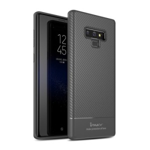 Θήκη SAMSUNG Galaxy Note 9 IPAKY Carbon Fiber Series πλάτη TPU γκρι