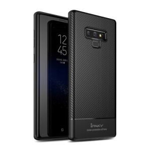 Θήκη SAMSUNG Galaxy Note 9 IPAKY Carbon Fiber Series πλάτη TPU μαύρο