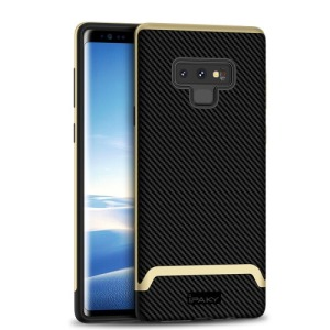 Θήκη SAMSUNG Galaxy Note 9 IPAKY Two Piece Hybrid Carbon Fiber πλάτη TPU μαύρο / χρυσό