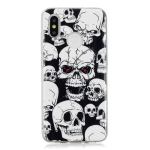 Θήκη XIAOMI Mi 8 OEM σχέδιο Skulls from hell πλάτη TPU