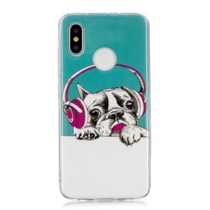 Θήκη XIAOMI Mi 8 OEM σχέδιο dog Wearing Headphones πλάτη TPU