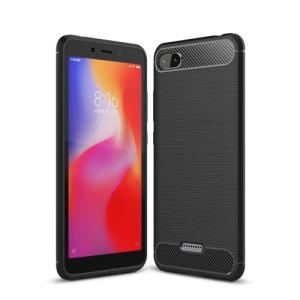 Θήκη XIAOMI Redmi 6A OEM Brushed TPU Carbon πλάτη μαύρο