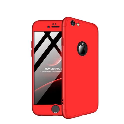 Θήκη GKK Full body Protection 360° από σκληρό πλαστικό για iPhone 6 / 6s κόκκινο