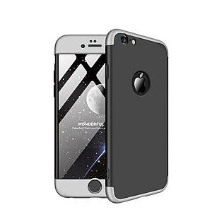 Θήκη iPhone 6 / 6s GKK Full body Protection 360° από σκληρό πλαστικό μαύρο / ασημί