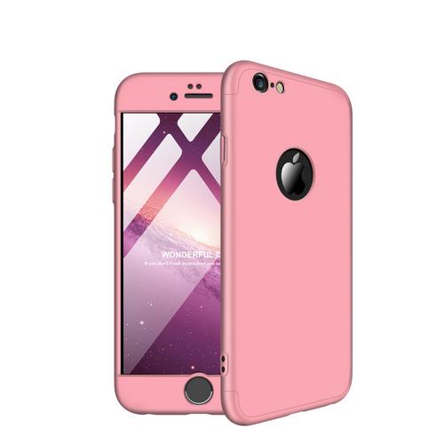 Θήκη iPhone 6 / 6s GKK Full body Protection 360° από σκληρό πλαστικό ροζ χρυσό
