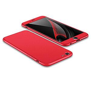 Θήκη GKK Full body Protection 360° από σκληρό πλαστικό για iPhone 6 Plus / 6s Plus  κόκκινο