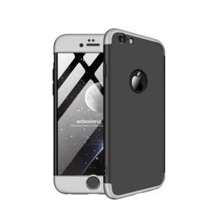 Θήκη iPhone 6 Plus / iPhone 6s Plus GKK Full body Protection 360° από σκληρό πλαστικό μαύρο / ασημί