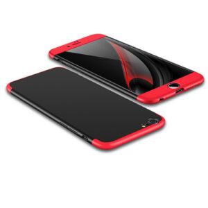 Θήκη GKK Full body Protection 360° από σκληρό πλαστικό για iPhone 6 Plus / 6s Plus  μαύρο / κόκκινο