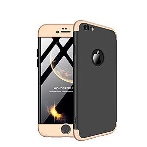 Θήκη iPhone 6 Plus / iPhone 6s Plus GKK Full body Protection 360° από σκληρό πλαστικό μαύρο / χρυσό
