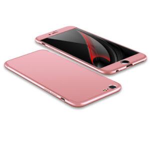 Θήκη GKK Full body Protection 360° από σκληρό πλαστικό για iPhone 6 Plus / 6s Plus  ροζ χρυσό