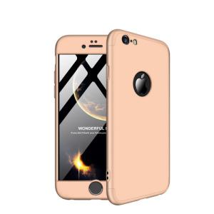 Θήκη iPhone 6 Plus / iPhone 6s Plus GKK Full body Protection 360° από σκληρό πλαστικό χρυσό