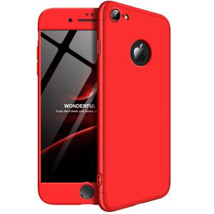 Θήκη GKK Full body Protection 360° από σκληρό πλαστικό για iPhone 7 κόκκινο