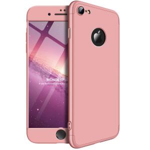 Θήκη GKK Full body Protection 360° από σκληρό πλαστικό για iPhone 7 ροζ χρυσό