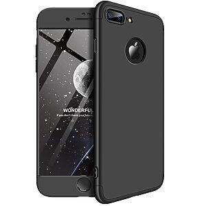 Θήκη GKK Full body Protection 360° από σκληρό πλαστικό για iPhone 7 Plus μαύρο