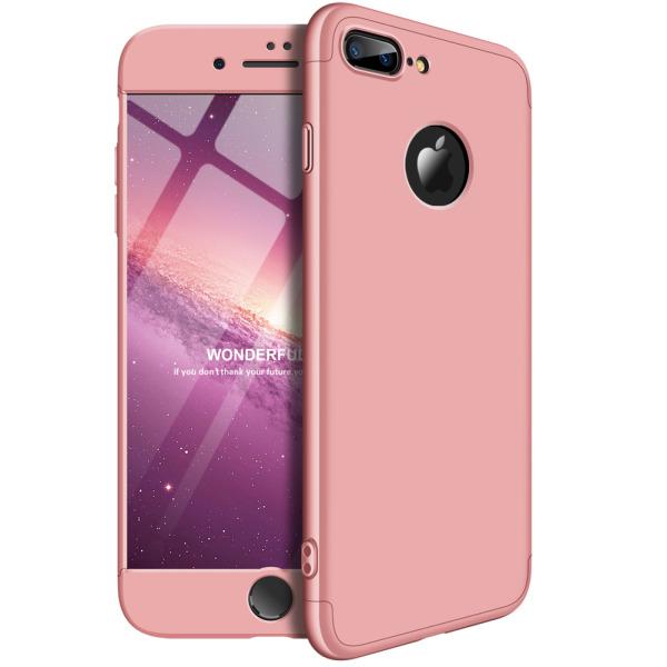 Θήκη GKK Full body Protection 360° από σκληρό πλαστικό για iPhone 7 Plus ροζ χρυσό