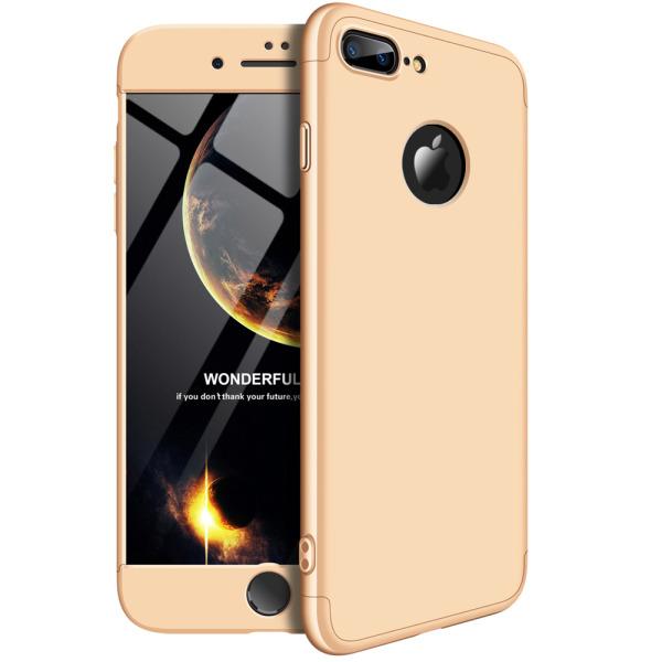 Θήκη GKK Full body Protection 360° από σκληρό πλαστικό για iPhone 7 Plus χρυσό