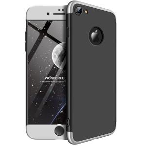 Θήκη GKK Full body Protection 360° από σκληρό πλαστικό για iPhone 8 μαύρο / ασημί