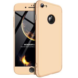 Θήκη GKK Full body Protection 360° από σκληρό πλαστικό για iPhone 8 χρυσό
