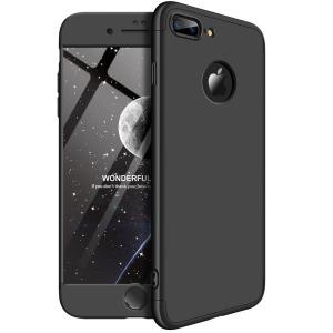 Θήκη GKK Full body Protection 360° από σκληρό πλαστικό για iPhone 8 Plus μαύρο