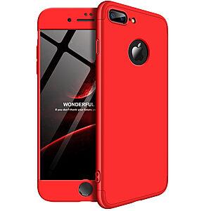 Θήκη GKK Full body Protection 360° από σκληρό πλαστικό για iPhone 8 Plus κόκκινο