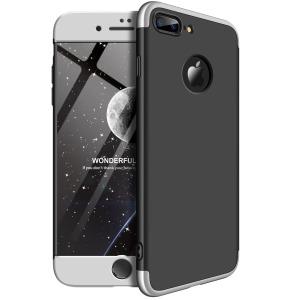 Θήκη GKK Full body Protection 360° από σκληρό πλαστικό για iPhone 8 Plus μαύρο / ασημί