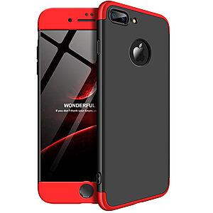 Θήκη GKK Full body Protection 360° από σκληρό πλαστικό για iPhone 8 Plus μαύρο / κόκκινο