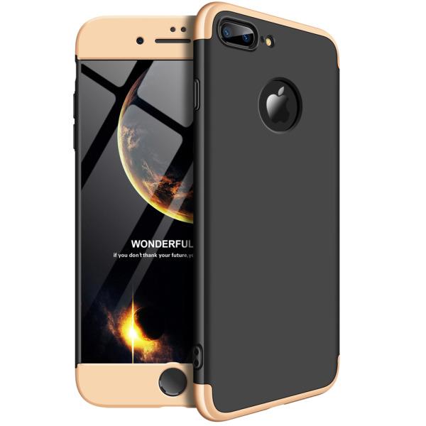 Θήκη GKK Full body Protection 360° από σκληρό πλαστικό για iPhone 8 Plus μαύρο / χρυσό