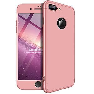 Θήκη GKK Full body Protection 360° από σκληρό πλαστικό για iPhone 8 Plus ροζ χρυσό