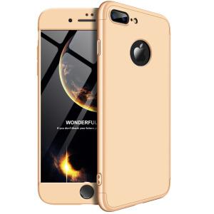 Θήκη GKK Full body Protection 360° από σκληρό πλαστικό για iPhone 8 Plus χρυσό