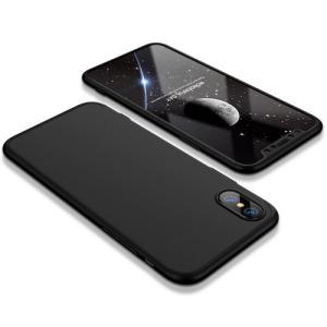 Θήκη GKK Full body Protection 360° από σκληρό πλαστικό για iPhone X μαύρο