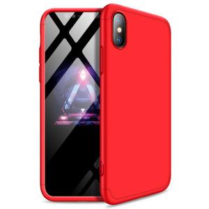 Θήκη GKK Full body Protection 360° από σκληρό πλαστικό για iPhone Xs κόκκινο