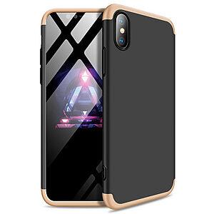 Θήκη GKK Full body Protection 360° από σκληρό πλαστικό για iPhone Xs μαύρο / χρυσό