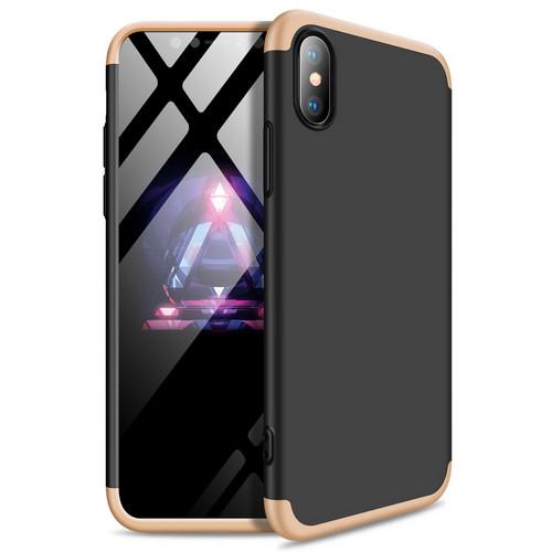 Θήκη GKK Full body Protection 360° από σκληρό πλαστικό για iPhone Xs Max μαύρο / χρυσό