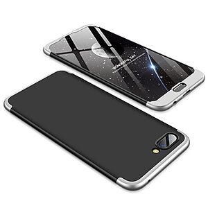 Θήκη GKK Full body Protection 360° από σκληρό πλαστικό για Huawei Honor 10 μαύρο / ασημί