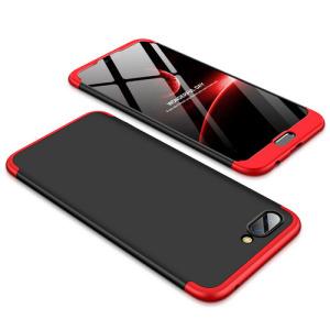 Θήκη GKK Full body Protection 360° από σκληρό πλαστικό για Huawei Honor 10 μαύρο / κόκκινο