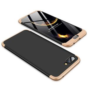 Θήκη GKK Full body Protection 360° από σκληρό πλαστικό για Huawei Honor 10 μαύρο / χρυσό