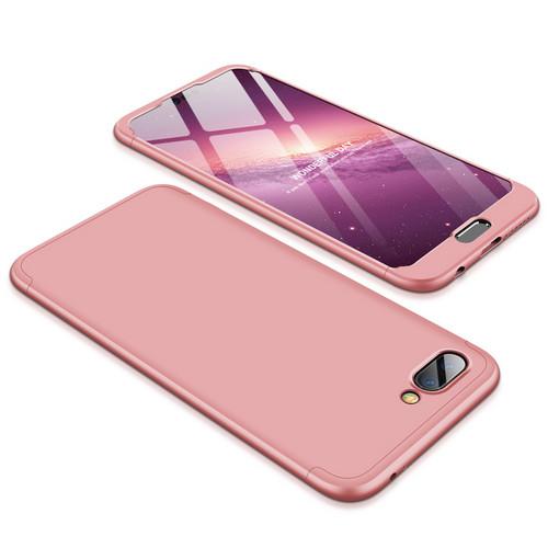 Θήκη GKK Full body Protection 360° από σκληρό πλαστικό για Huawei Honor 10 ροζ χρυσό