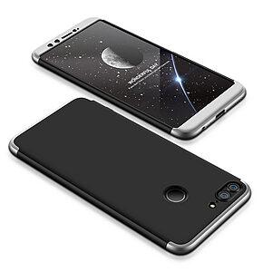 Θήκη GKK Full body Protection 360° από σκληρό πλαστικό για Huawei Honor 9 Lite μαύρο / ασημί