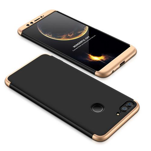 Θήκη GKK Full body Protection 360° από σκληρό πλαστικό για Huawei Honor 9 Lite μαύρο / χρυσό