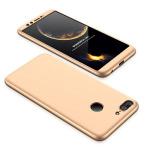 Θήκη GKK Full body Protection 360° από σκληρό πλαστικό για Huawei Honor 9 Lite χρυσό
