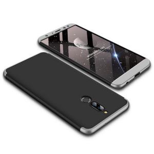 Θήκη GKK Full body Protection 360° από σκληρό πλαστικό για Huawei Mate 10 Lite μαύρο / ασημί