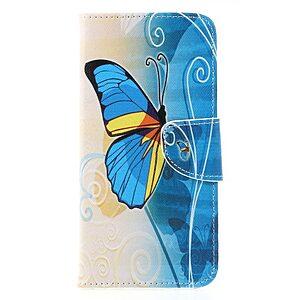 Θήκη Huawei Mate 20 Lite OEM σχέδιο Blue Butterfly με βάση στήριξης