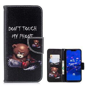 Θήκη Huawei Mate 20 Lite OEM σχέδιο Angry bear with chainsaw με βάση στήριξης