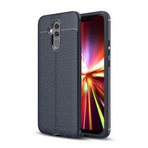 Θήκη Huawei Mate 20 Lite OEM Focus Litchi Skin Series πλάτη TPU μπλε