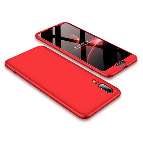 Θήκη GKK Full body Protection 360° από σκληρό πλαστικό για Huawei Honor P20 κόκκινο