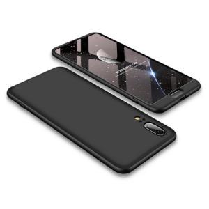 Θήκη GKK Full body Protection 360° από σκληρό πλαστικό για Huawei Honor P20 μαύρο