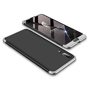 Θήκη GKK Full body Protection 360° από σκληρό πλαστικό για Huawei Honor P20 μαύρο / ασημί