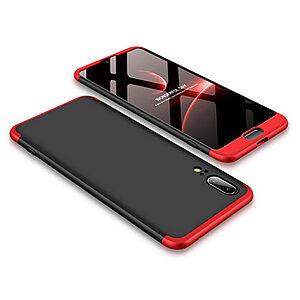 Θήκη GKK Full body Protection 360° από σκληρό πλαστικό για Huawei Honor P20 μαύρο / κόκκινο
